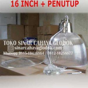 lampu pendant fiber 16 inch cover penutup