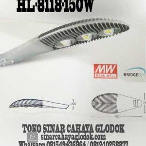 lampu jalan led merk hinolux hl-8118-150w