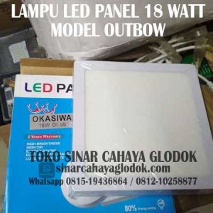 lampu led panel merk okasiwa