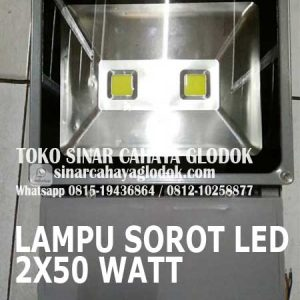 lampu sorot led 2x50 watt