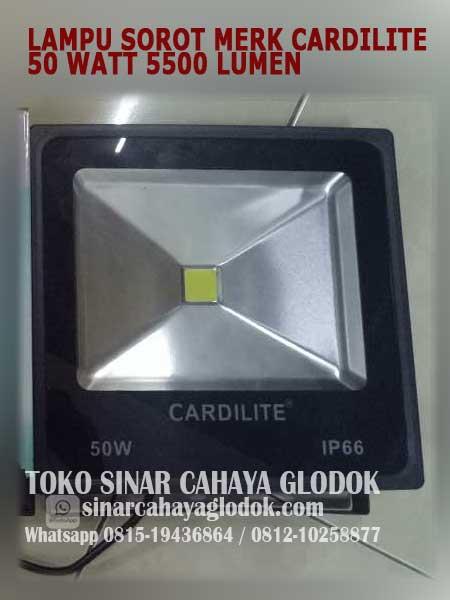 lampu sorot led 50 watt merk cardilite