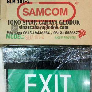 lampu emergency exit samcom slm 18t-2