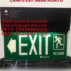 lampu exit emergency sign merk hokito