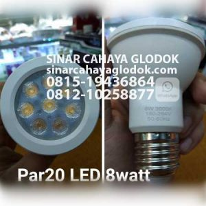 lampu par20 led 8 watt