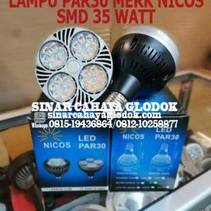 lampu par30 led merk nicos 35 watt