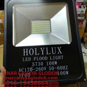 lampu sorot merk holylux led 100 watt