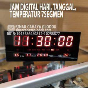 jam digital hari tanggal