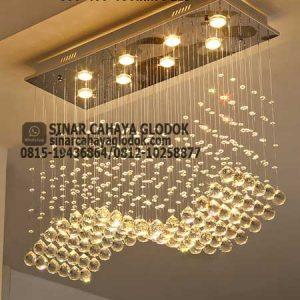lampu gantung kristal sling