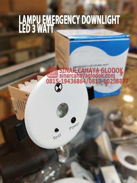 lampu emergency led downlight