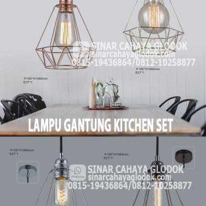lampu gantung kitchen set