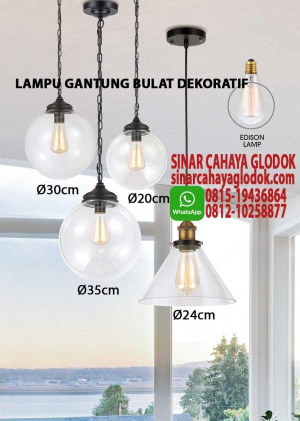lampu gantung bulat dekoratif