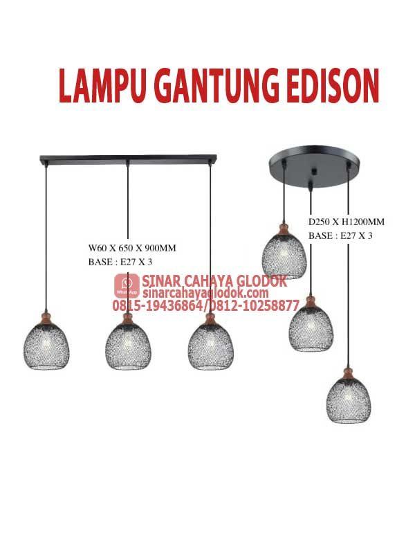 lampu gantung edison minimalis
