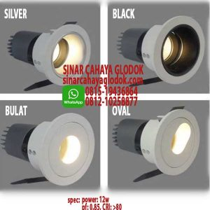 lampu downlight pinhole 12w