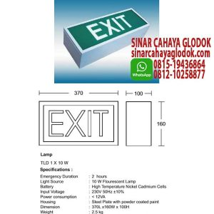 lampu exit box tl10w
