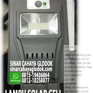 lampu jalan solarcell 40w