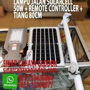 lampu jalan solarcell 50w