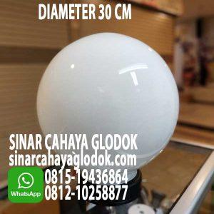 lampu taman 30cm bulat