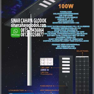 lampu jalan solarcell 100w