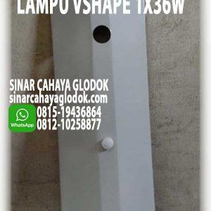 lampu tko vshape 1x36w
