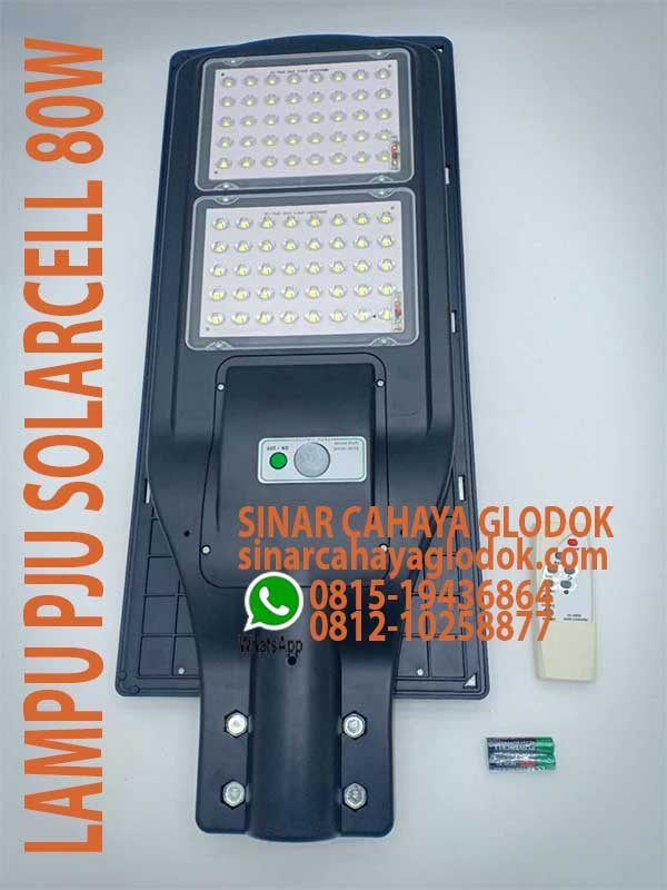 lampu jalan solarcell 80w