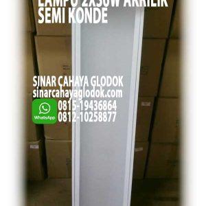 lampu 2x36w akrilik susu