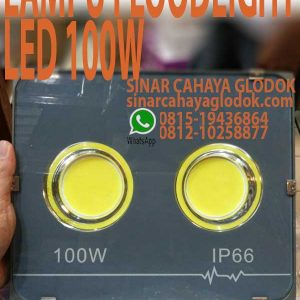 lampu floodlight led 100w