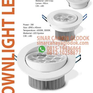 lampu downlight led 12w