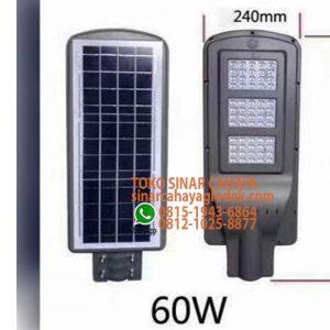 lampu pju solar cell 60w
